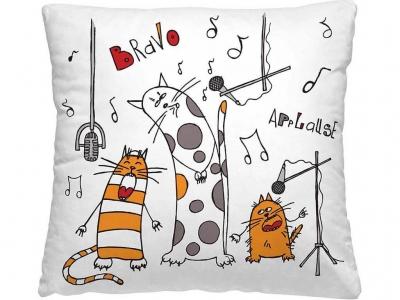 Подушка-думка 40/40 Весёлые коты