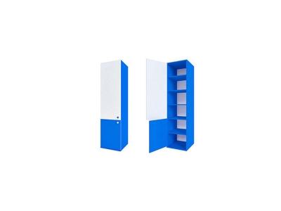 Шкаф узкий синий ДМ-ШС-2-4 Пожарный 458-504-1806