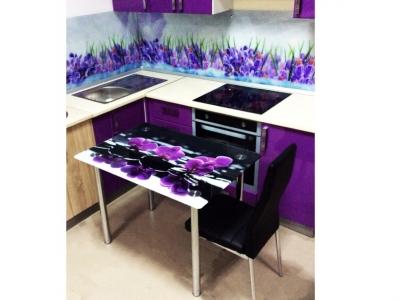 Стол со стеклом Премиум Орхидея SPA 1000х700