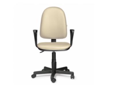 Компьютерное кресло Престиж самба кожзам Бежевый