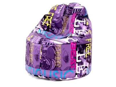 Кресло-мешок Пуф кат.2 music violet