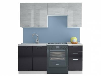 Кухня Равенна Стайл 1,8 м №1 (40) титан белый/титан черный