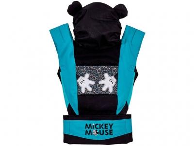 Рюкзак-кенгуру Polini kids Disney baby Микки Маус, с вышивкой, черный