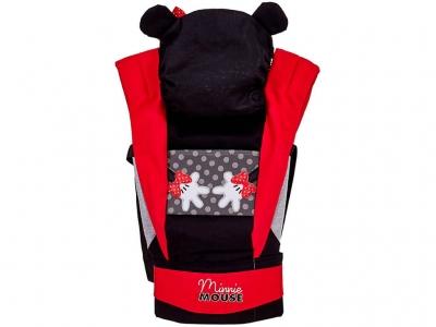 Рюкзак-кенгуру Polini kids Disney baby Минни Маус, с вышивкой, черный