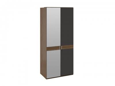 Шкаф для одежды с 1 глух. и 1 зерк. дверями Харрис СМ-302.07.004 Дуб американский, Серебряный гранит