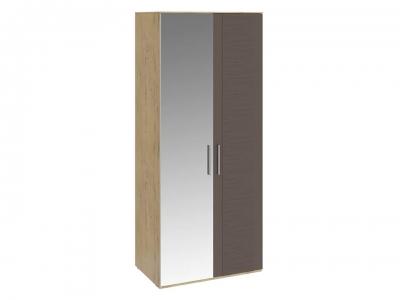 Шкаф для одежды с 1 глух. и 1 зерк. дверями Николь СМ-295.07.005 L Бунратти, коричневый