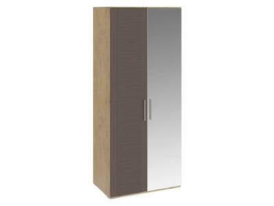 Шкаф для одежды с 1 глух. и 1 зерк. дверями Николь СМ-295.07.005 R Бунратти, коричневый
