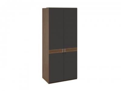 Шкаф для одежды с 2 дверями Харрис СМ-302.07.003 Дуб американский, Серебряный гранит