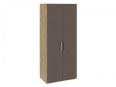 Шкаф для одежды с 2 дверями Николь СМ-295.07.003 Бунратти, коричневый