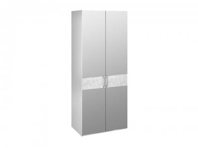 Шкаф для одежды с 2 зеркальными дверями Амели СМ-193.07.005 Белый глянец