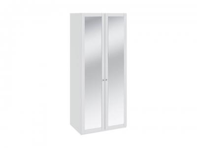 Шкаф для одежды с 2 зеркальными дверями Ривьера СМ 241.07.102 Белый