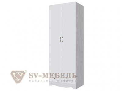 Шкаф двухстворчатый с одним ящиком Акварель-1 800х2200х540 белый матовый