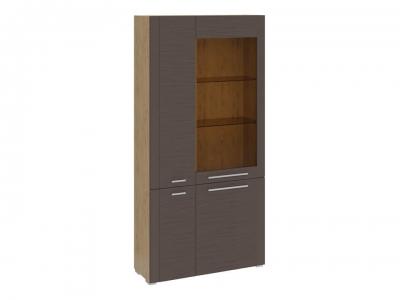 Шкаф комбинированный с 4 дверями Николь ТД-296.07.37 Бунратти, коричневый