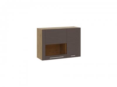 Шкаф настенный малый с 2 дверями Николь ТД-296.03.33 Бунратти, коричневый
