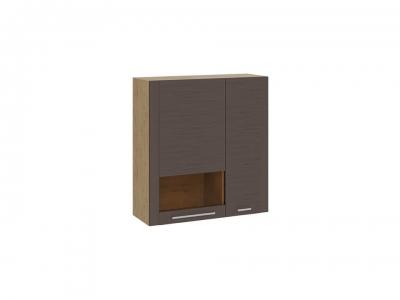 Шкаф настенный с 2 дверями Николь ТД-296.03.37 Бунратти, коричневый