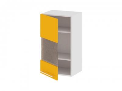 Шкаф навесной со стеклом левый В_72-40_1ДРс(А) Ассорти Лимон