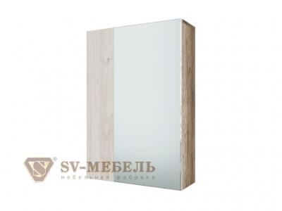 Шкаф с зеркалом навесной Визит 1 550х800х174 Каньон светлый/Гикори светлый