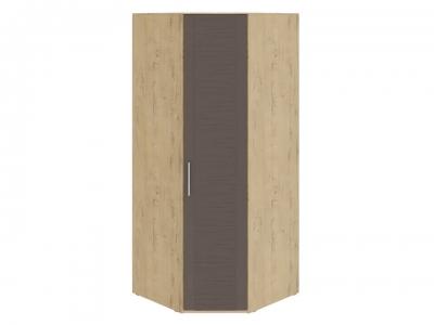 Шкаф угловой с 1 дверью Николь СМ-295.07.006 Бунратти, коричневый