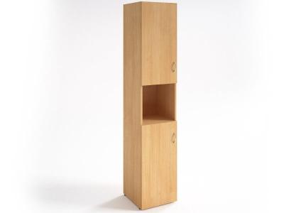Шкаф для документов узкий НШ-12 Бук светлый