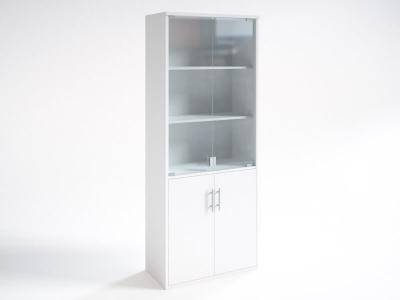 Шкаф со стеклянными дверцами НШ-2 Белый