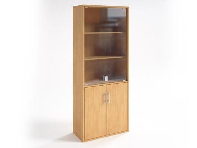 Шкаф со стеклянными дверцами НШ-2 Бук светлый