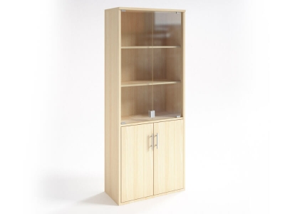 Шкаф со стеклянными дверцами НШ-2 Клен