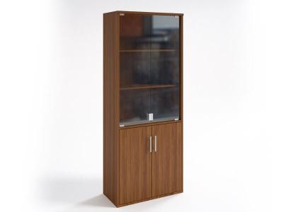 Шкаф со стеклянными дверцами НШ-2 Орех