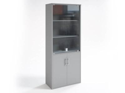Шкаф со стеклянными дверцами НШ-2 Серый
