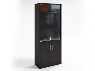 Шкаф со стеклянными дверцами НШ-2 Венге