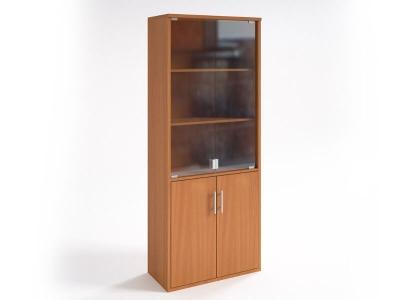 Шкаф со стеклянными дверцами НШ-2 Яблоня Локарно