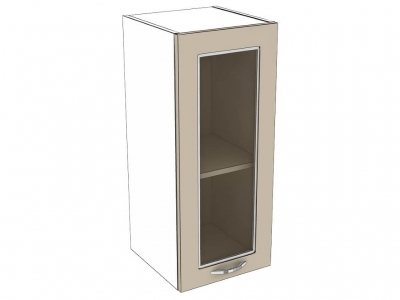 Шкаф навесной со стеклом 300 1Д патина