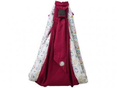 Слинг Polini kids Disney Последний богатырь с вышивкой, лес розовый