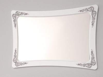 Зеркало Аделина Белый глянец-Серебро