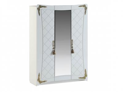 Шкаф Аделина А 2.0.1 Белый глянец-Золото