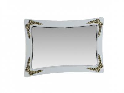 Зеркало Аделина Белый глянец-Золото