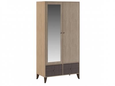 Шкаф двухдверный Квадро с зеркалом