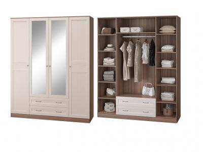 Шкаф 4-х дверный с зеркалом Лестер