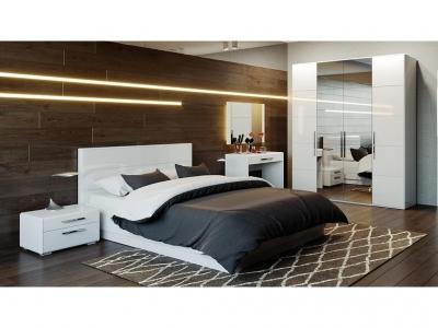 Спальный гарнитур Наоми ГН-208.005 Белый глянец
