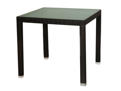 Обеденный стол искусственный ротанг 22452