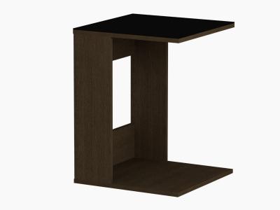 Стол журнальный 731 LS Венге/Черное стекло