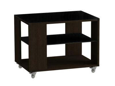 Стол журнальный 733 LS Венге/Черное стекло