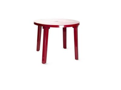 Пластиковый стол Лиса бордовый