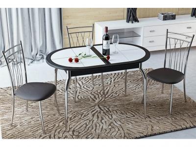 Стол обеденный с плиткой Стамбул О СМ-220.03.1 Венге, Флориан белая