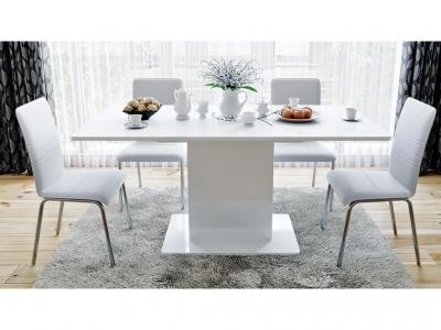 Стол обеденный тип 1 Diamond Белый глянец