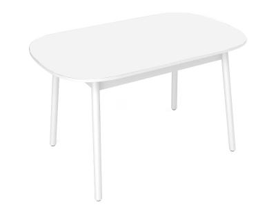 Стол обеденный Винтаж с матовым стеклом белый