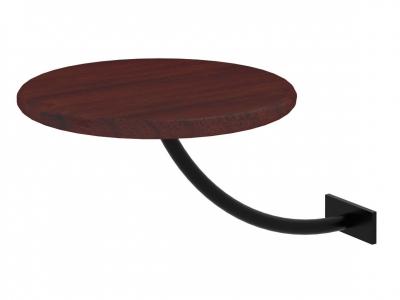 Полка прикроватная круглая Милсон коричневая-металл черный