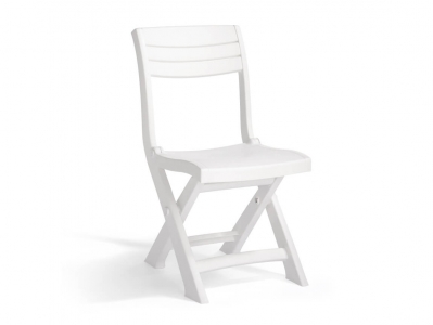 Стул пластиковый складной Тахома Бистро серо-белый