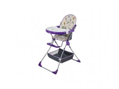 Стульчик для кормления Polini kids 252 Совы фиолетовый