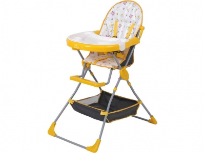 Стульчик для кормления Polini kids 252 жёлтый