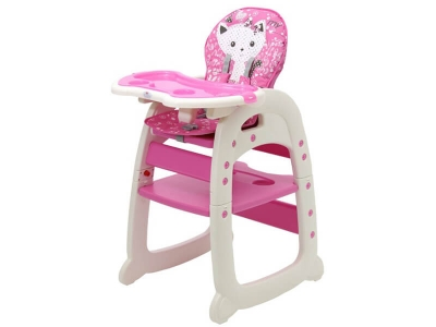 Стульчик для кормления Polini kids 460 розовый